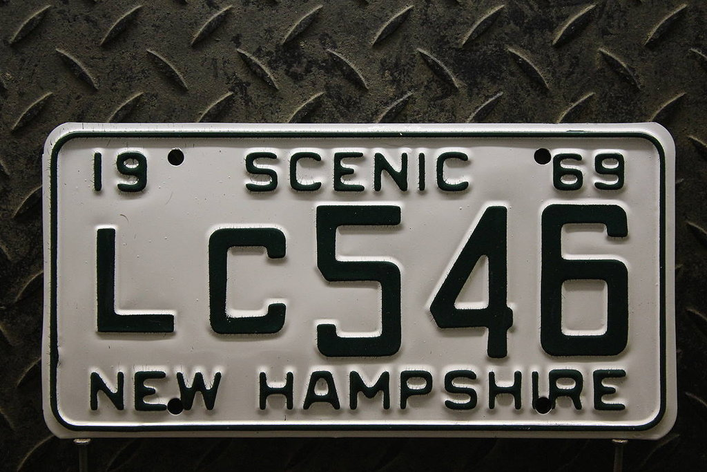 NEW HAMPSHIRE 1969 Oldtimer Nummernschild # LC546