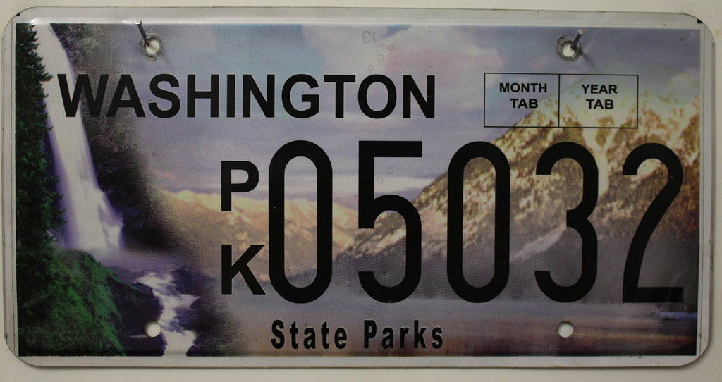 WASHINGTON State Parks - Nummernschild # 05032 ...
