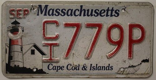 MASSACHUSETTS Nummernschild - Cape Cod & Islands # 779P ...