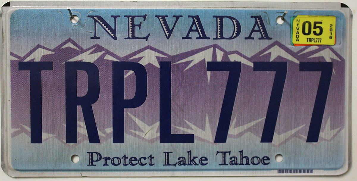 NEVADA Protect Lake Tahoe - Nummernschild # TRPL.777 =