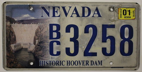NEVADA Historic Hoover Dam - Nummernschild # BC.3258 =