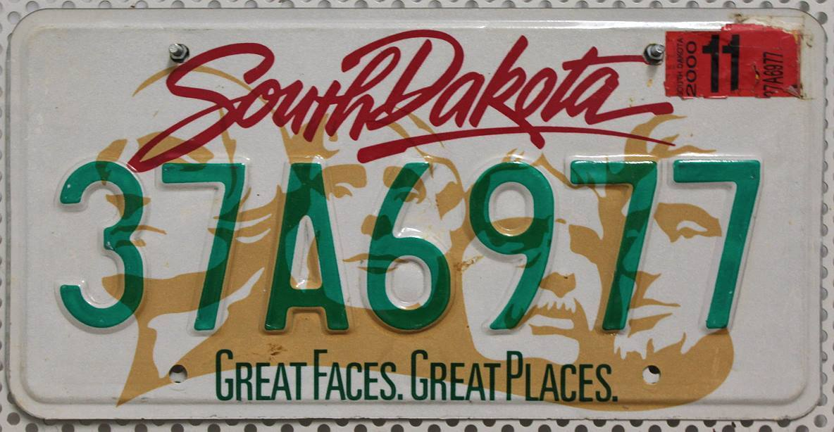 SOUTH DAKOTA Mount Rushmore - Nummernschild # 37A6977 =