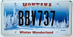 MONTANA Winter Wonderland - Nummernschild # BBV737 ...