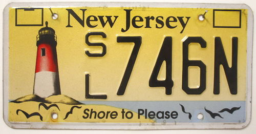 NEW JERSEY Shore to Please - Nummernschild # SL746N...