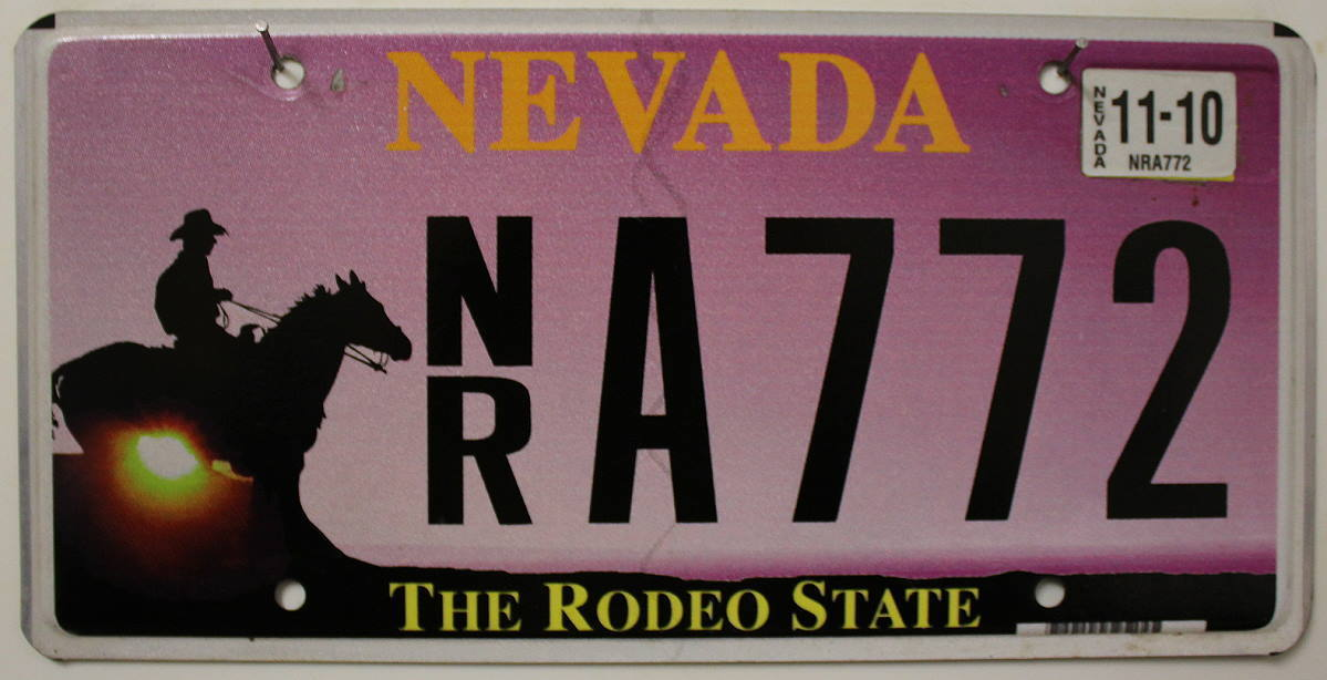 NEVADA The Rodeo State - Nummernschild # NR.A772 =