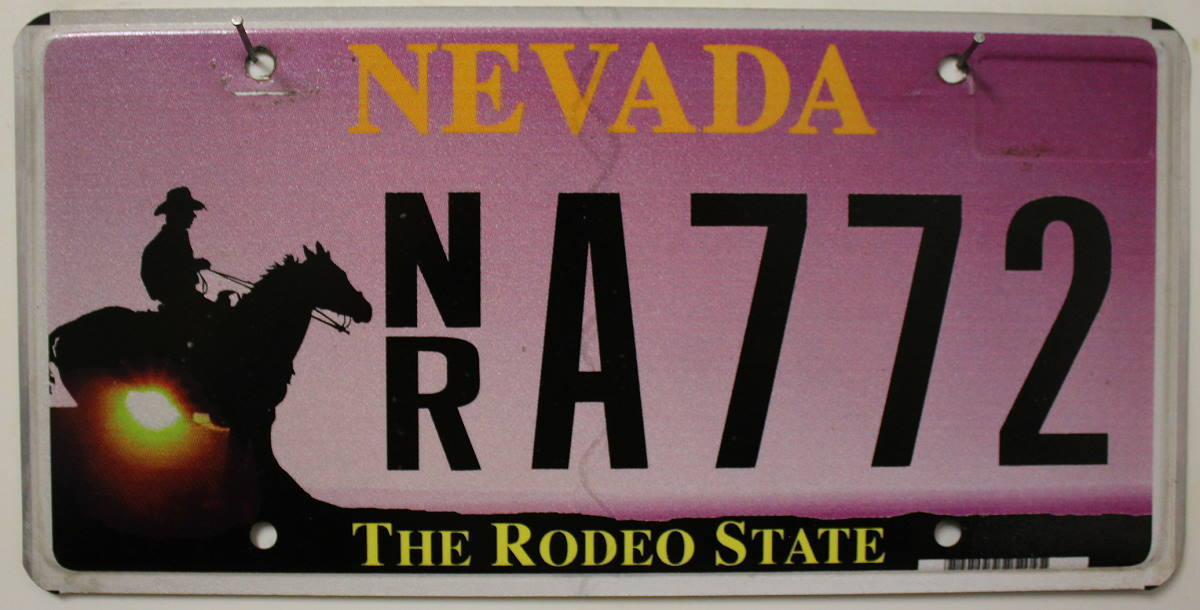 NEVADA The Rodeo State - Nummernschild # NR.A772 ...