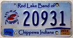 Red Lake Band of CHIPPEWA INDIANS Nummernschild # 20931 =