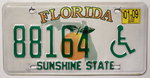 FLORIDA (Typ DISABLED) - Nummernschild # 88164 =