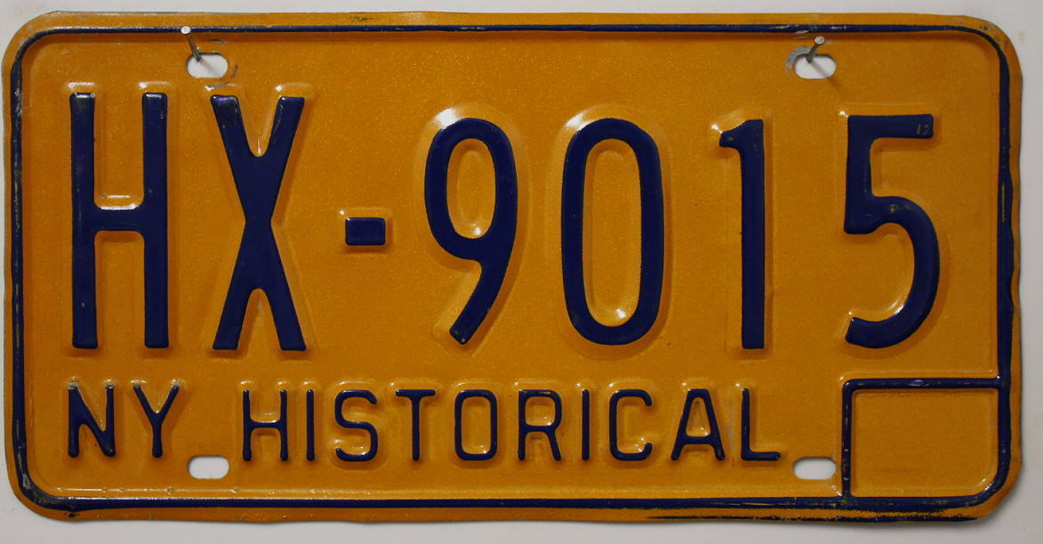 NEW YORK Historical Typ - Nummernschild # HX-9015 ...