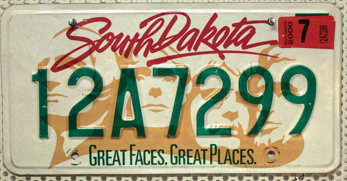 SOUTH DAKOTA Mount Rushmore - Nummernschild # 12A7299 =