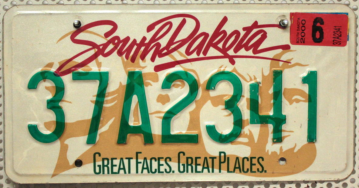 SOUTH DAKOTA Mount Rushmore - Nummernschild # 37A2341 =