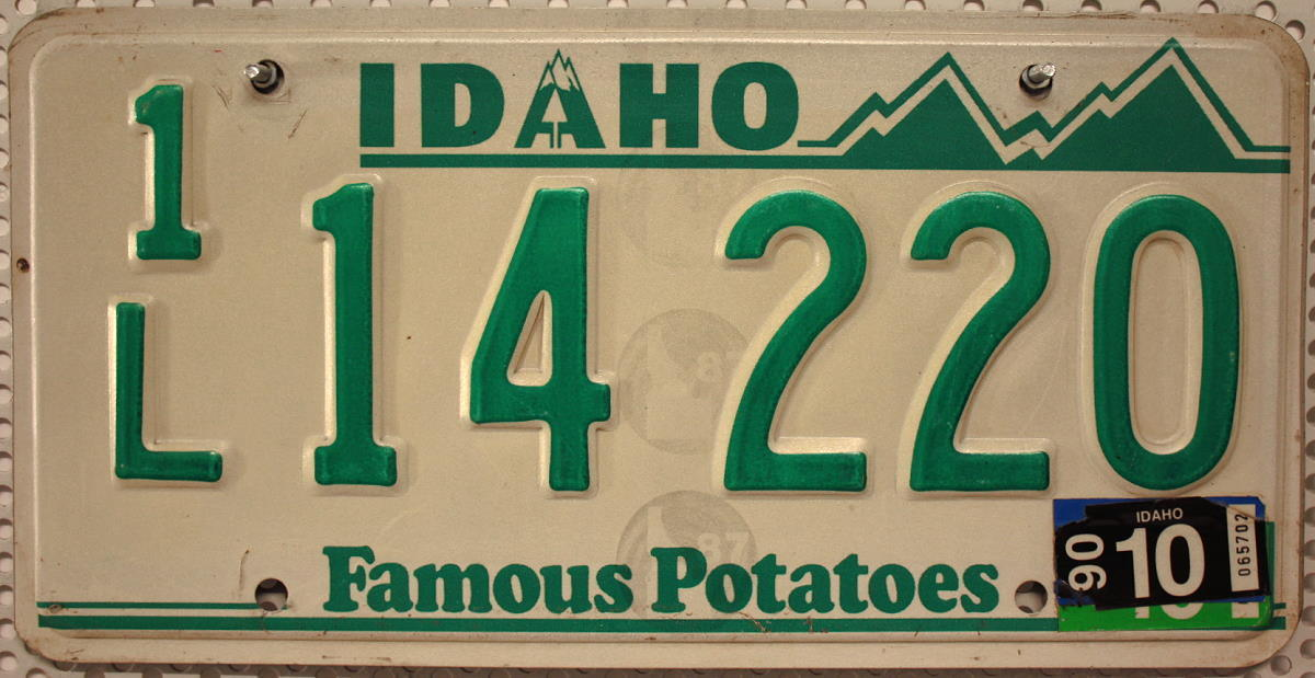 IDAHO - Nummernschild (Typ Green/White) # 14220 =