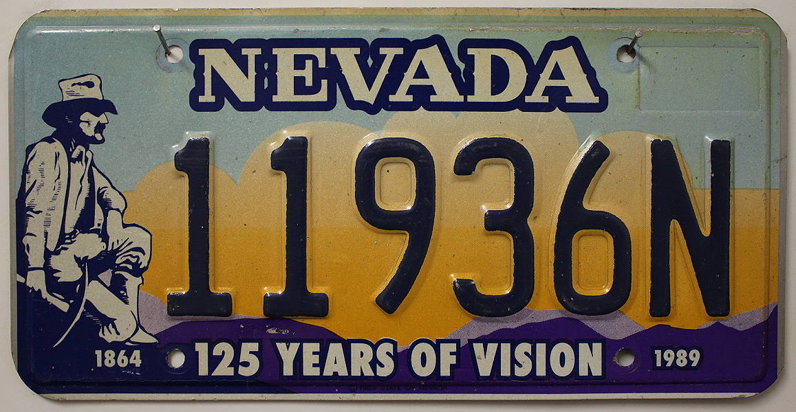 NEVADA (125 Years Of Vision) - Nummernschild # 11936N ...
