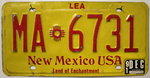 NEW MEXICO Lea County - Nummernschild # MA.6731 =