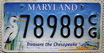 MARYLAND Treasure the Chesapeake - Nummernschild # 78988.CG ...