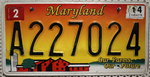 MARYLAND Our Farms Our Future - Nummernschild # A227024 =