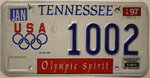 TENNESSEE Olympic Spirit - Nummernschild # 1002 =