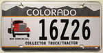 COLORADO Collector Truck T. - Nummernschild # 16Z26 ...