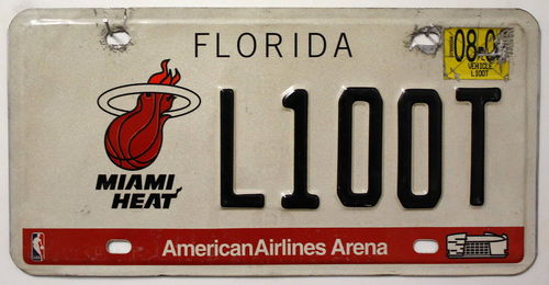 FLORIDA / Miami Heat - Nummernschild # L100T =