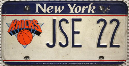 NEW YORK Basketball Team - Nummernschild # JSE22 ...