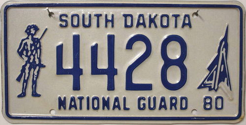 SOUTH DAKOTA National Guard - Nummernschild # 4428 ...